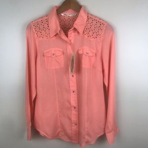 CUMBERLAND OUTFITTERS Western Pearl Snap Shirt